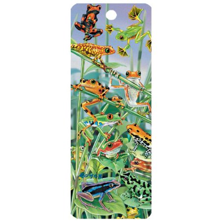 Frogs Hanging Around, 3-D Bookmark with Tassel, By Bookmark Trenz Ship from - 3d Bookmark