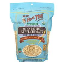 Oatmeal: Bob's Red Mill Quick Cooking Steel Cut Oats Organic