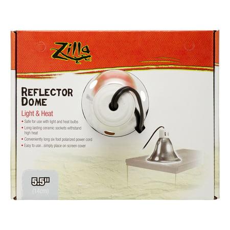 Zilla Reflector Dome Light & Heat Terrarium Light Fixture, 5.5