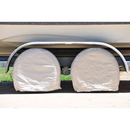 Set of 4 Canvas Wheel Tire Covers for RV Auto Truck Car Camper Trailer Fits 24.5