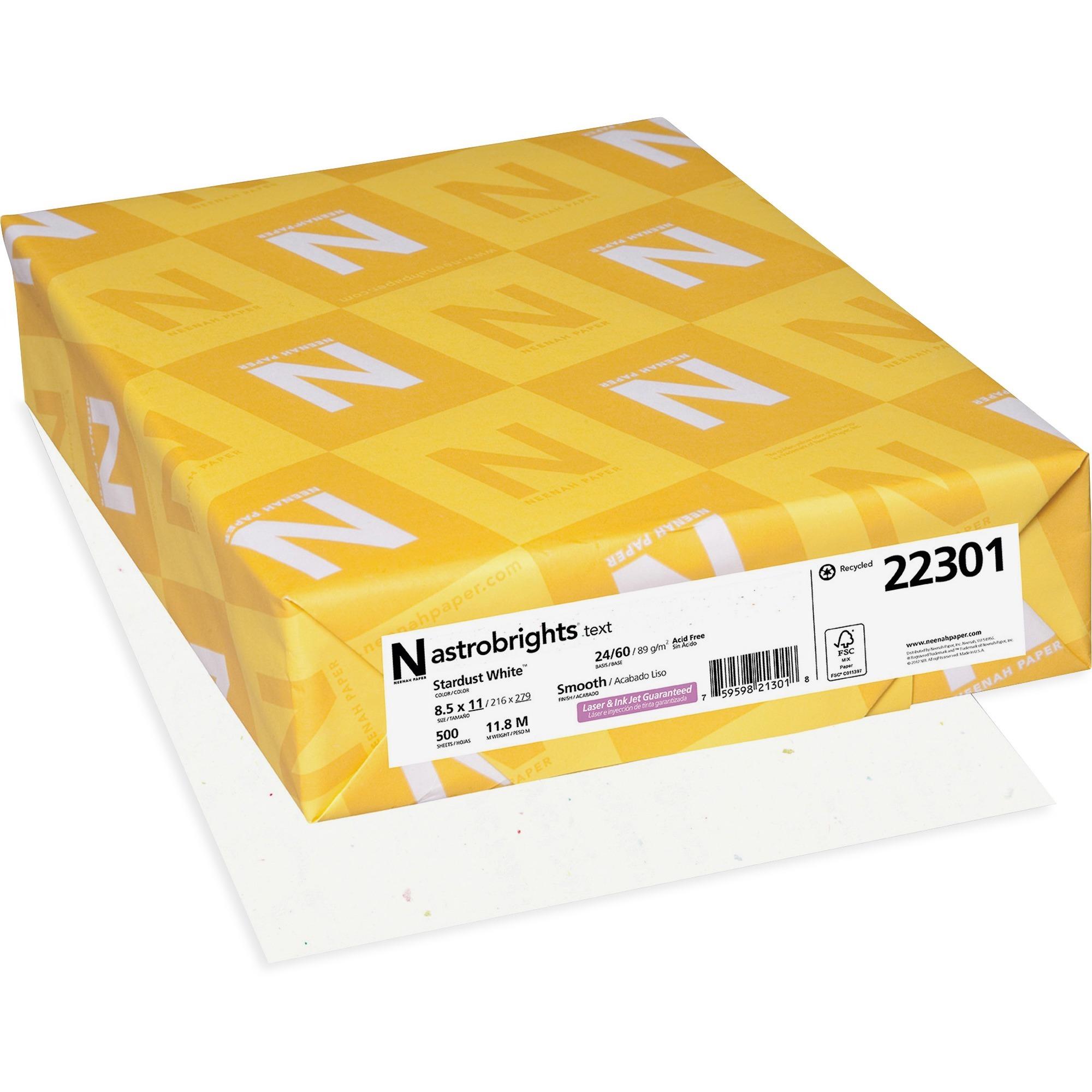 """Astrobrights Color Paper - """"Neon"""" Assortment, 24lb, 8 1/2 x 11, 5 Colors, 500 Sheets"""