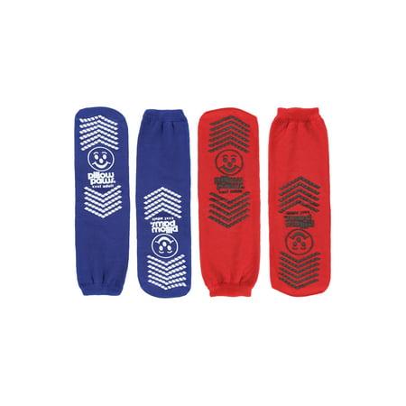 Pro Feet Multi Sport Socks (Bariatric Slipper Socks for Wide Feet & Ankles - Won't Bunch/Slip Down - 2 Pair)