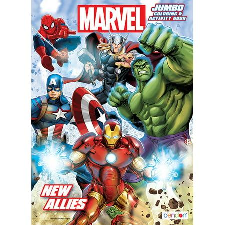 Bendon Publishing Avengers 96pg Jumbo Coloring Book - Walmart.com