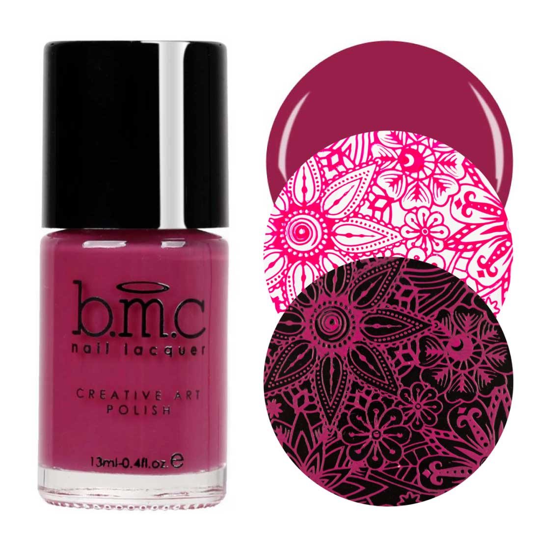 BMC Bright and Bold Nail Art Stamping Polishes - Winter Solstice Collection