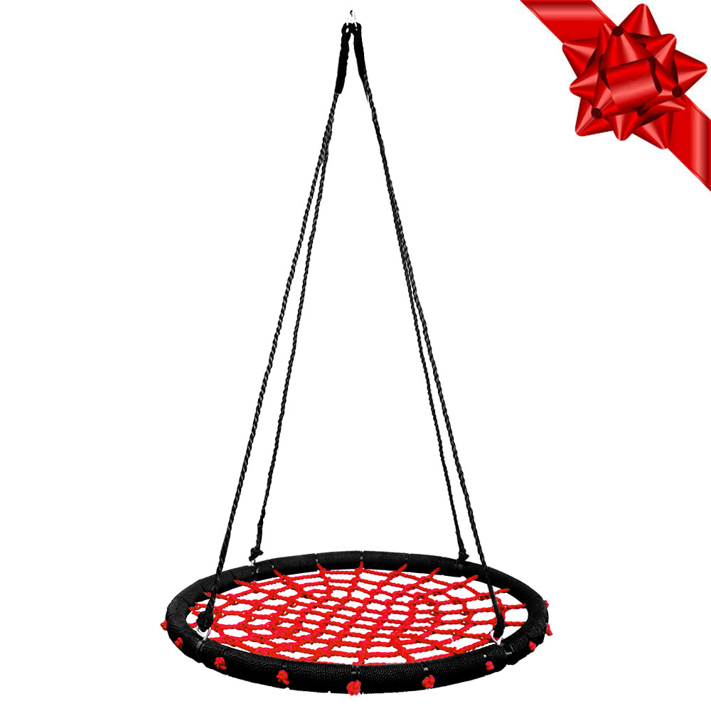 "Clevr 40"" Outdoor Kids Round Rope Tire Tree Web Net Swing..."