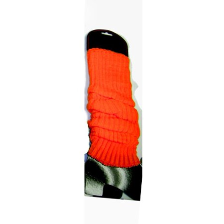 Neon Orange Leg Warmers (Pair) Rave Club 80's 1980's Dancer Lauper Madonna