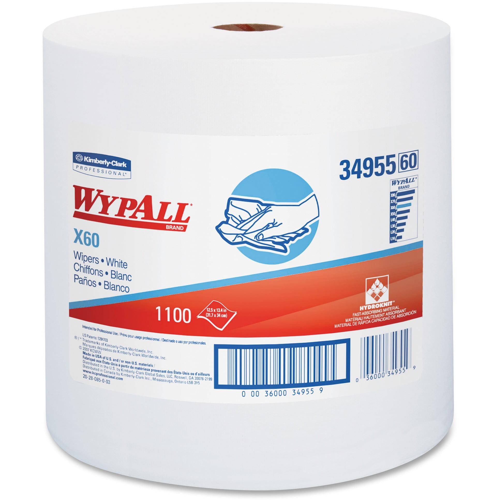 Wypall, KCC34955, X60 Wipers Jumbo Roll, 1100 / Carton, White