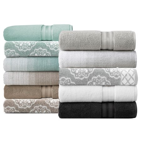 Better Homes & Gardens Thick and Plush Medallion Jacquard Bath Towel, Aquifer