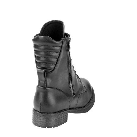 Womens Scoop Combat Boot