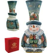 G Debrekht Derevo Frosty Carolers Snowman