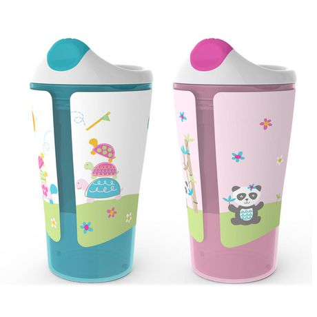 Born Free Grow with Me 10 oz Sippy Cup 2-Pack - Girl
