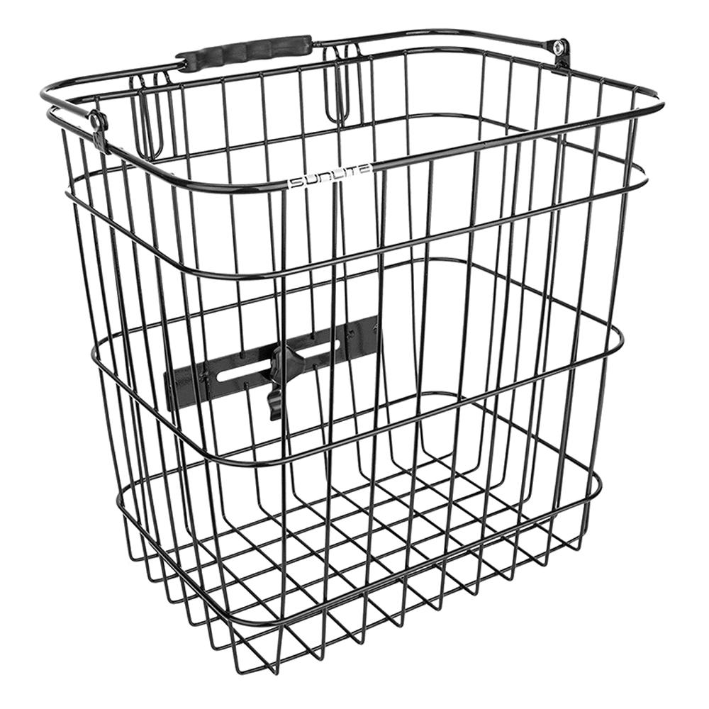 Sunlite Pannier Side Basket Steel Wire Black Quick Easy Off Rack
