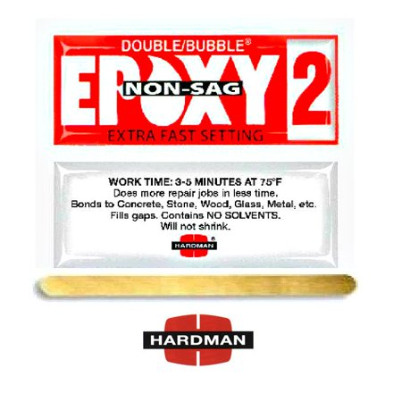 Epoxy 3.5g Double Bubble Packet Includes Ten Packs Hardman 04008 Red 2 Non Sag No Drip Super Fast -
