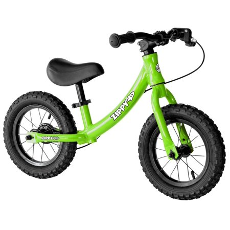 """faa296401ce ZIPPY PRO PLUS Advanced Training Running Balance Bike - 12"""" wheels with  Rear Brake & Pneumatic Tires, No Pedals - Lightweight Aluminum Bicycle  Toddlers ..."""