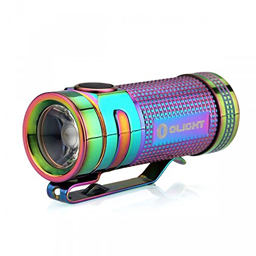Limited Edition Titanium Olight S mini 550 Lumens CREE LED Flashlight Smini (Rainbow PVD Finish)