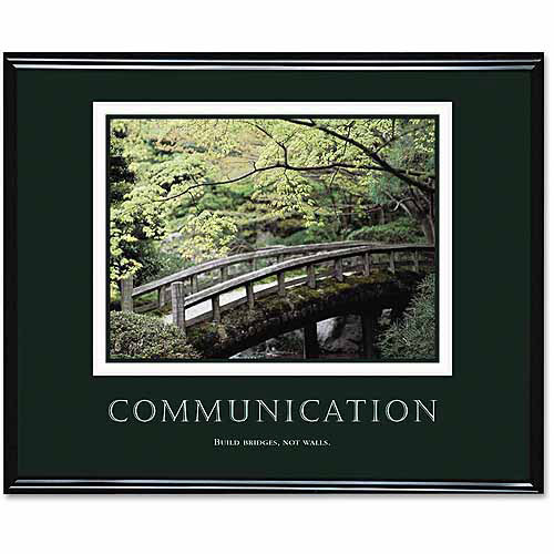 "Advantus ""Communication"" Framed Motivational Print, 30"" x 24"""