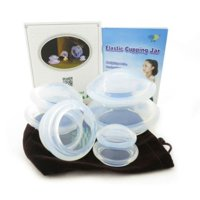 4 Cup Premium Transparent Silicone Cupping Set for Chinese Cupping and Massag...