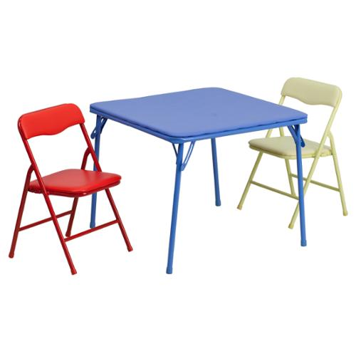 Flash Furniture Kids Colorful 3 Piece Folding Table and Chair Set by Overstock