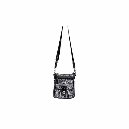 Black Leopard Pouch Fashion Tote By Joann Marie   Pbdl