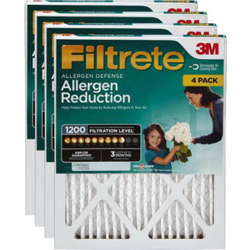 Filtrete Allergen Reduction 1200 Air and Furnace Filter, Stock Up and Save 4-pack<br />