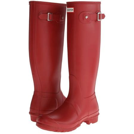 Hunter Women's Original Tall Rain Boots (Military Red / Size 8) (Hunter Short Boots Size 8)