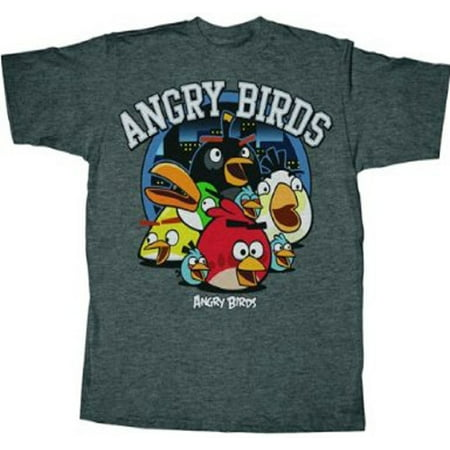 Angry Birds Circle Night Adult T-Shirt - Gra Angry Birds Halloween Boxes