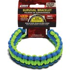550 lb Military Grade Paracord Survival Bracelet, Small, 7.5, Blue/Green