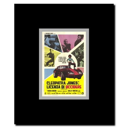 Cleopatra Jones C 1973 Italian Style A Framed Movie Poster Walmart Com Walmart Com