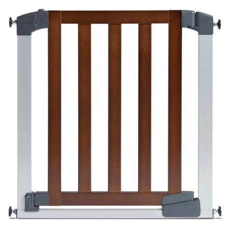 Munchkin Auto Close Modern Safety Gate Wood Steel Walmart Com