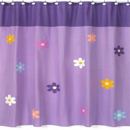 Danielles Daisies Kids Bathroom Fabric Bath Shower Curtain By Sweet Jojo Designs