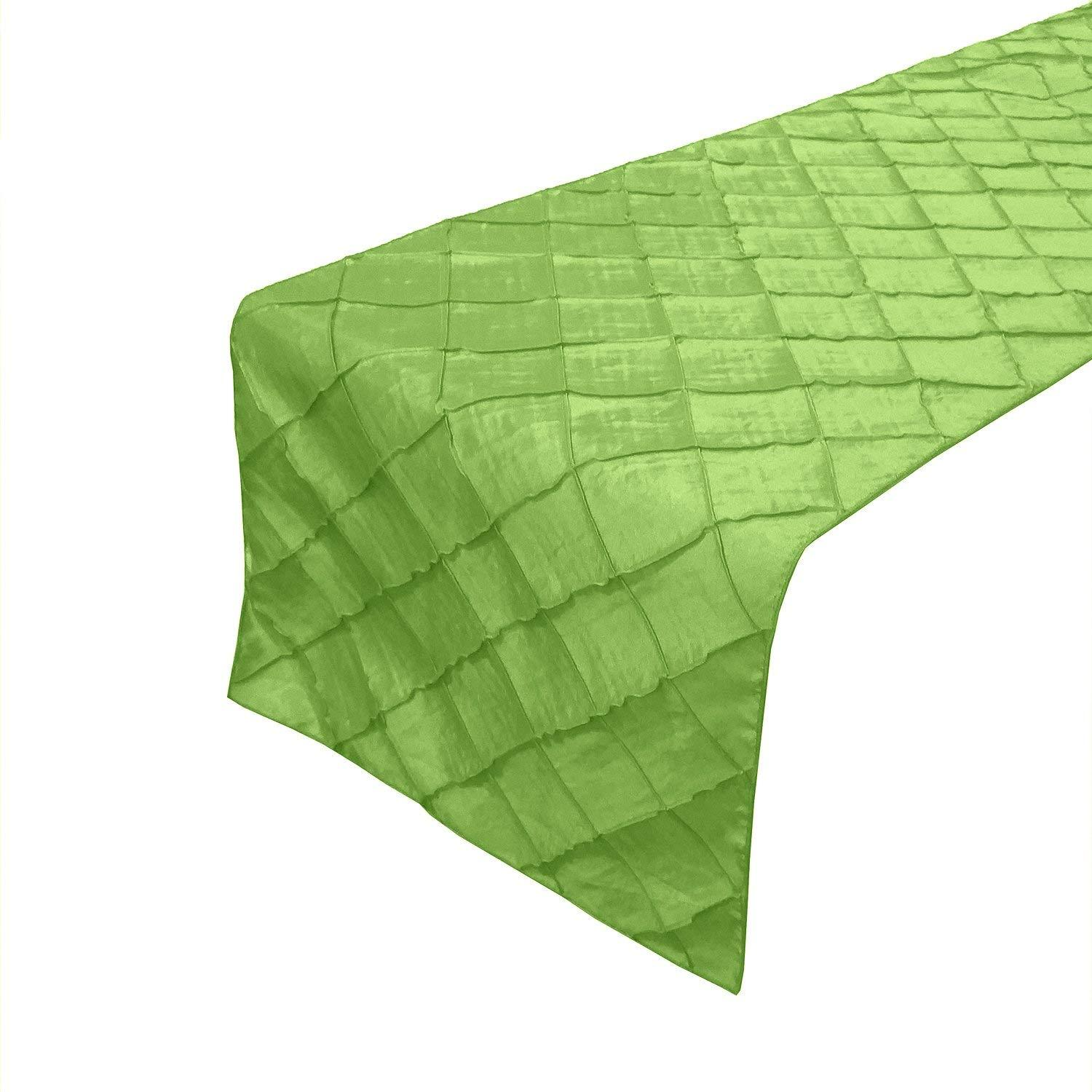 lovemyfabric Taffeta Pintuck Table Runners For Wedding/Bridal Shower Birthdays/Baby Shower and Special Events