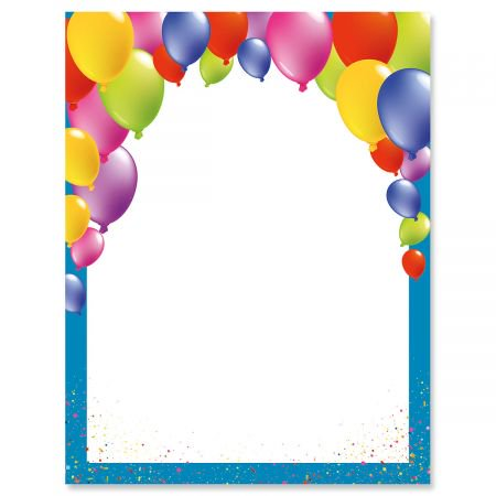 birthday balloons letter papers set of 25 birthday party stationery papers 8 1