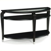 Magnussen T1946 Harper Wood and Glass Demilune Sofa Table