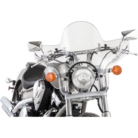"""Slipstreamer SS-20 Stealth Windshield Clear 7/8""""-1""""  SS-20-C"""