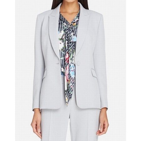 Tahari ASL Womens Flap Pocket One Button Blazer