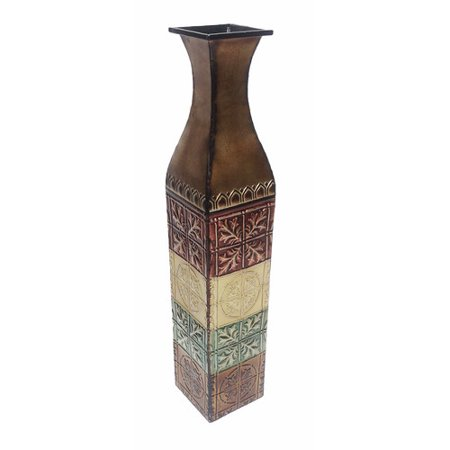 Dlusso Designs Lizette Metal Floor Vase Walmart