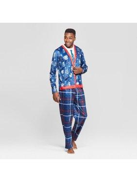 Men's Star Wars 2-Piece Fleece Novelty Pajama Set - Blue - XXL