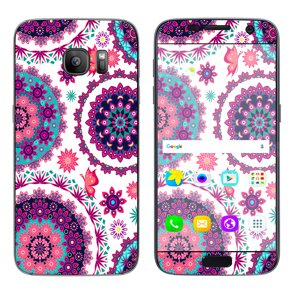 Skins Decals For Samsung Galaxy S7 / Flowers Paisley Butterfly Mandala