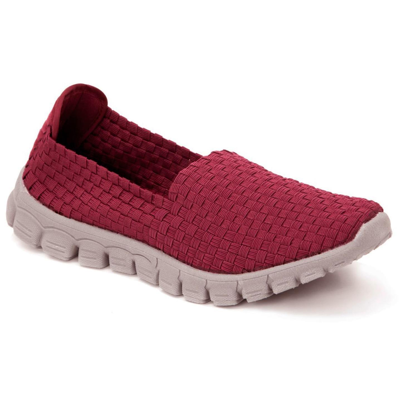 Zee Alexis Women's Stella Woven Slip On Shoe Red 38 US 7.5