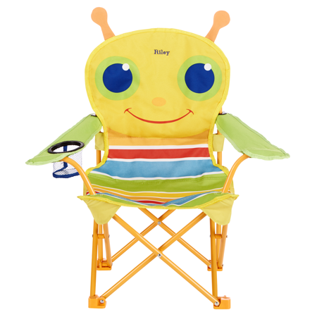 Image of Personalized Melissa & Doug® Bright Bugs Outdoor Chairs - Giddy Bug