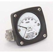 MIDWEST INSTRUMENT 120-AA-00-OO-50P Pressure Gauge,0 to 50 psi