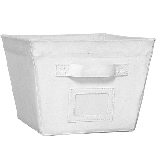 Mainstays Medium Storage Bin, White