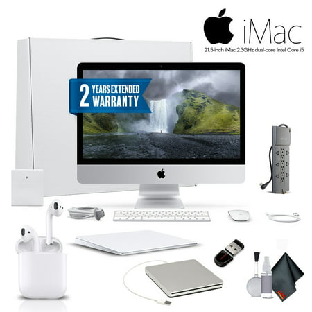 Apple iMac MMQA2LL/A 21.5 Inch Desktop Computer ,2.3GHz Core i5, 8GB RAM, 1TB HD, With Magic TrackPad 2, Warranty, Apple Superdrive, Apple AirPods and More - Professional