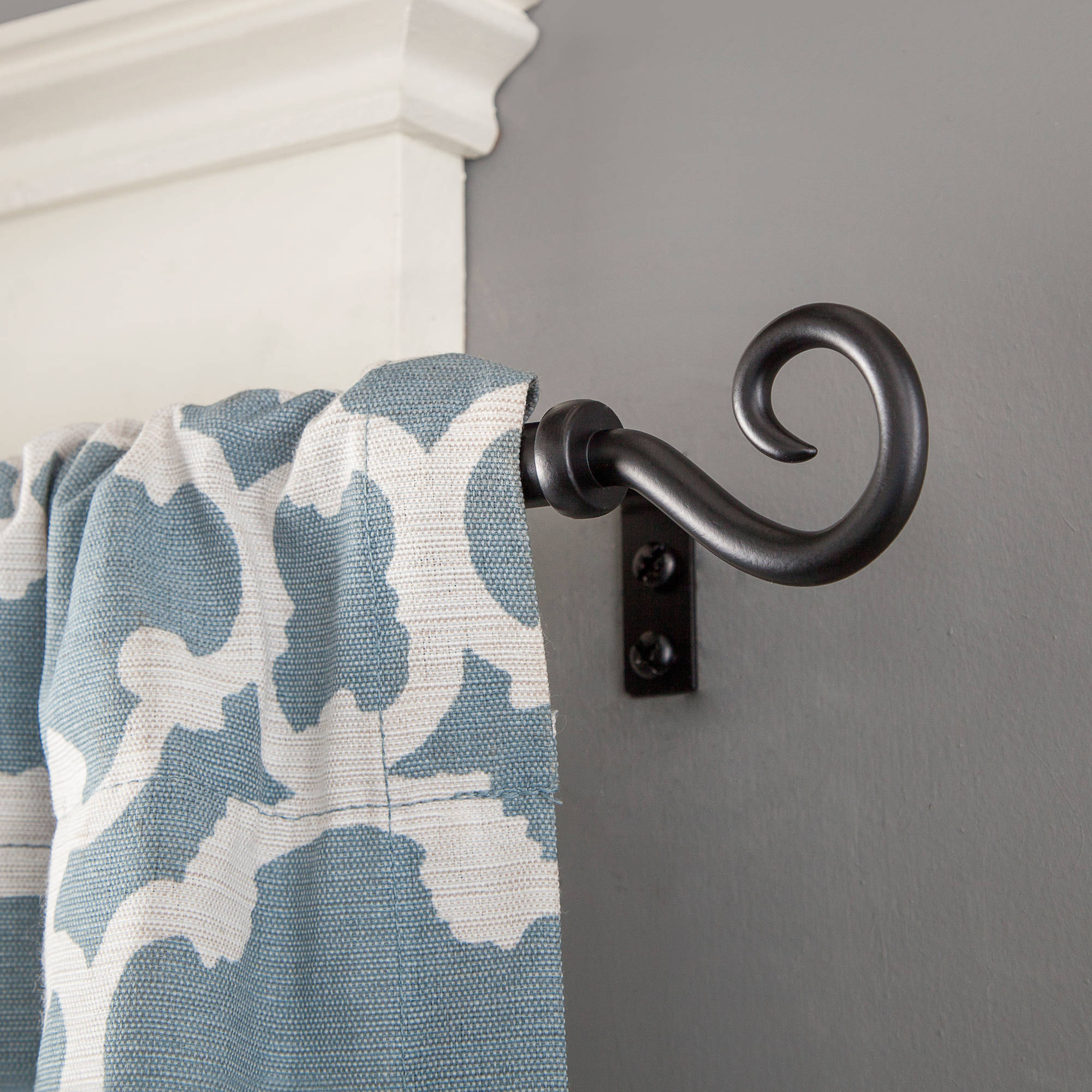 "Kenney 1/2"" Diameter Medieval Hook Petite Curtain Rod"