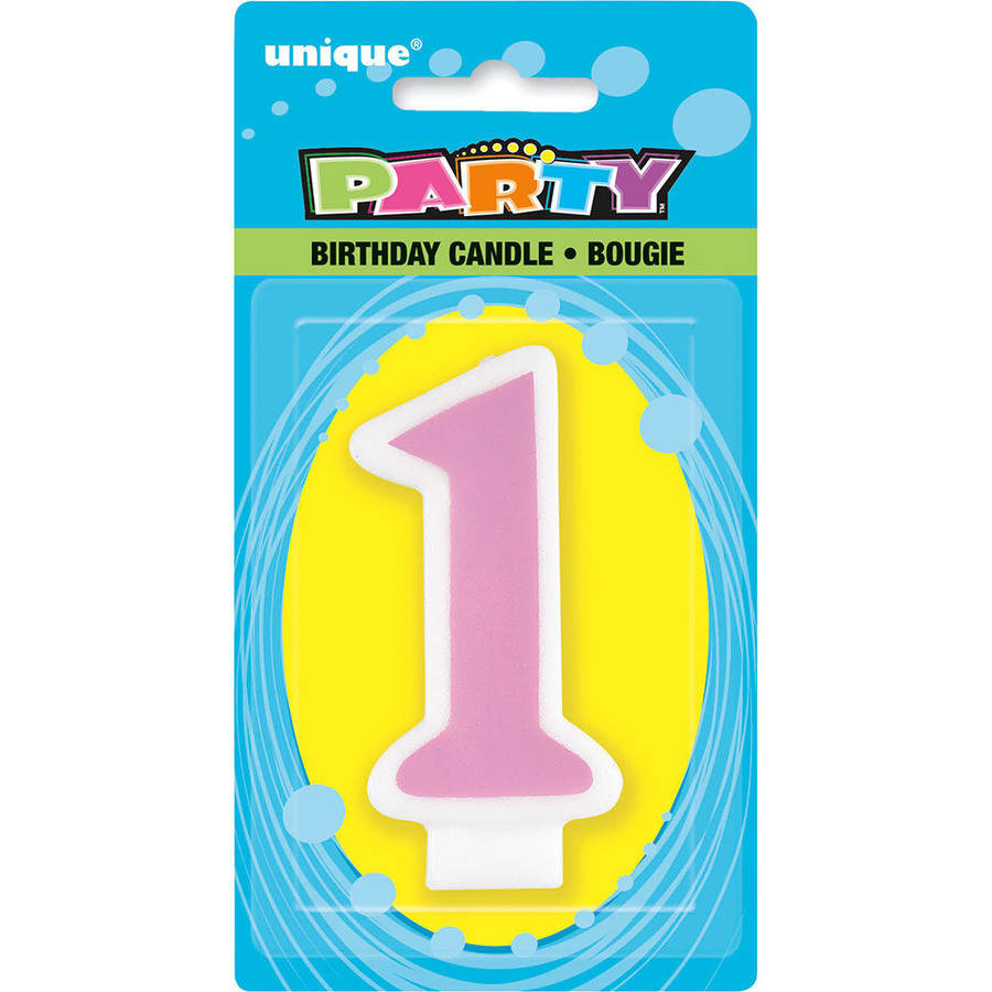 1st Birthday Number Candle FREE DELIVERY.