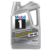 Mobil 1 European Car Formula Full Synthetic Motor Oil 0W-40, 5 Quart