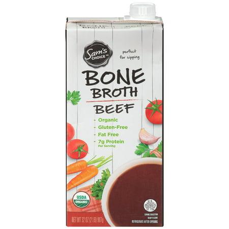(6 Pack) Sam's Choice Organic Bone Broth, Beef, 32