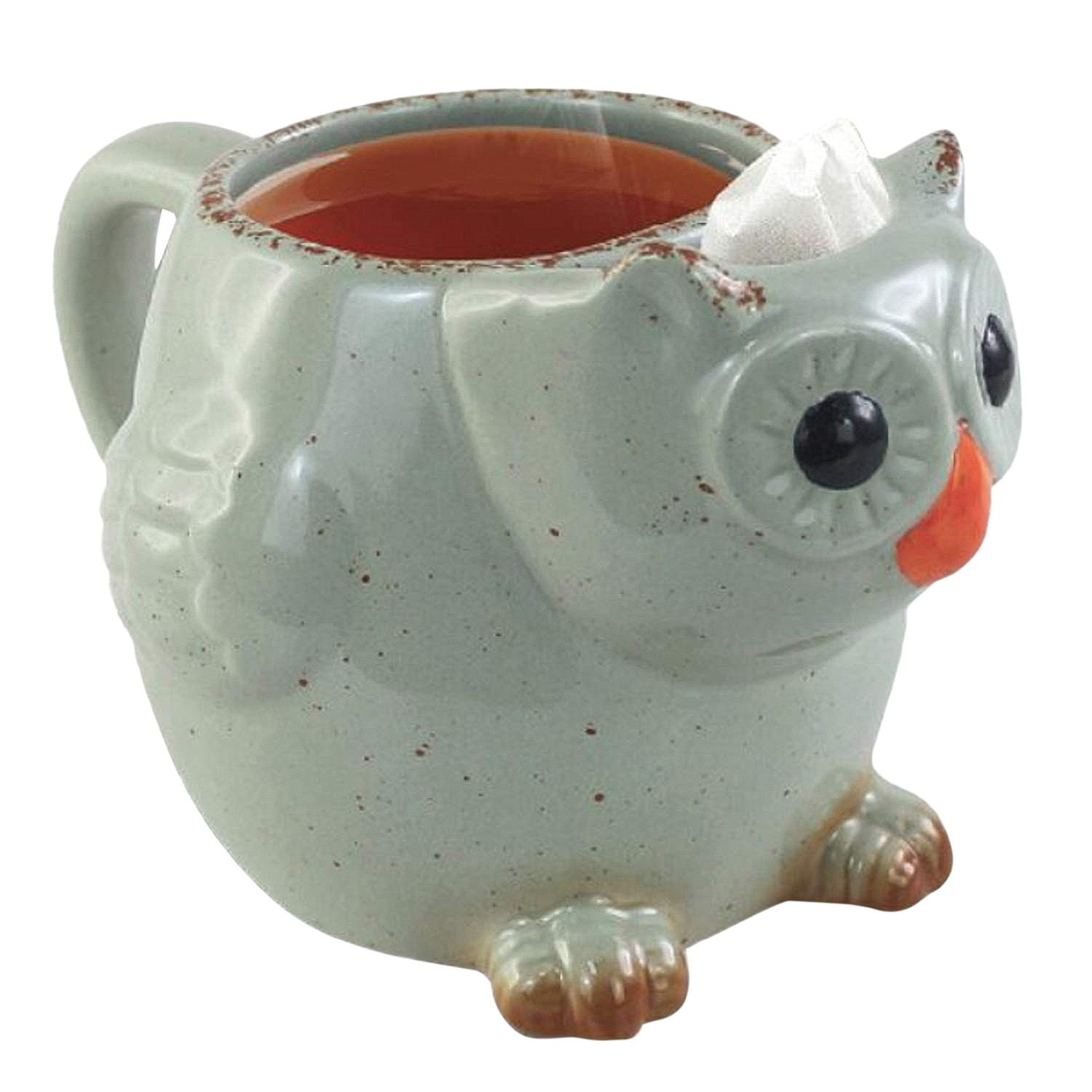 Volar Fashion Animal Shaped Tea Mugs Cute Ceramic Elephant Puppy Dog Cat Or Owl Tea Cup With Built In Tea Bag Holder Walmart Com Walmart Com