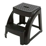 2-Step 250 Pound Capacity Durable Utility Step Stool - Black