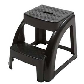 Swell 2 Pack Dual Height Step Stool For Toddlers Kids Potty Training Stool For Bathroom Kitchen Two Step Design With Soft Grips Black By California Dailytribune Chair Design For Home Dailytribuneorg